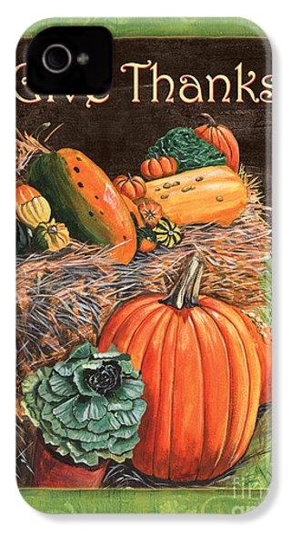 Give Thanks IPhone 4 / 4s Case by Debbie DeWitt