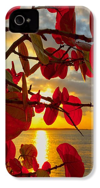 Glowing Red IPhone 4 Case