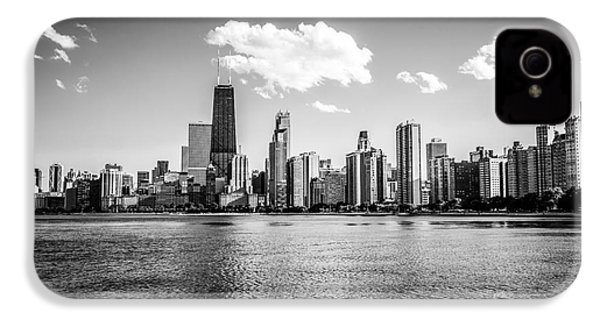 Gold Coast Skyline In Chicago Black And White Picture IPhone 4 / 4s Case by Paul Velgos