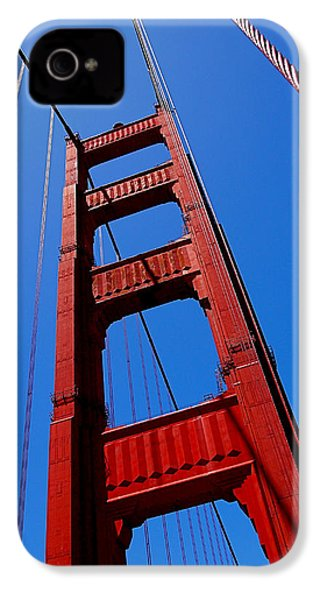 Golden Gate Tower IPhone 4 Case by Rona Black