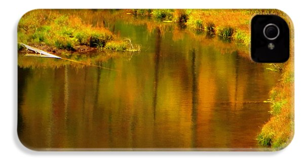 IPhone 4 Case featuring the photograph Golden Reflections by Karen Shackles