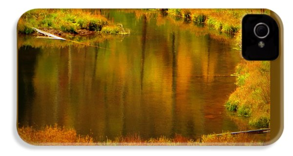 Golden Reflections IPhone 4 Case by Karen Shackles
