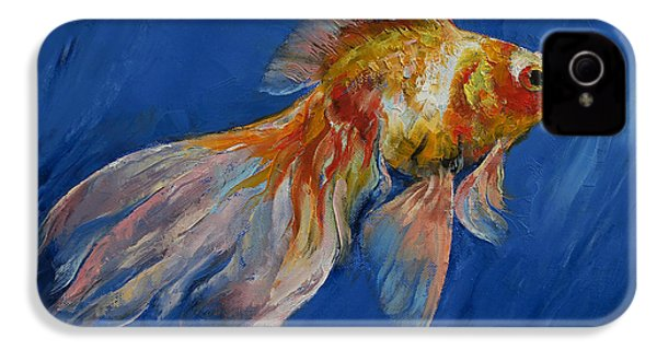 Goldfish IPhone 4 / 4s Case by Michael Creese