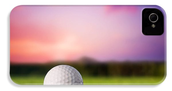 Golf Ball On Tee At Sunset IPhone 4 / 4s Case by Michal Bednarek