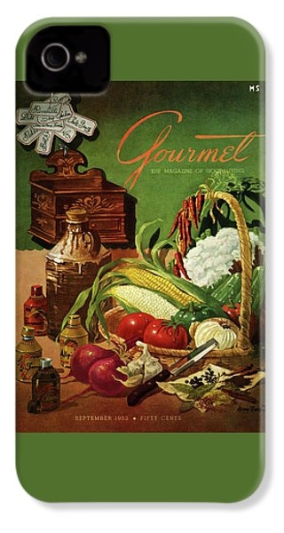 Gourmet Cover Featuring A Variety Of Vegetables IPhone 4 Case by Henry Stahlhut