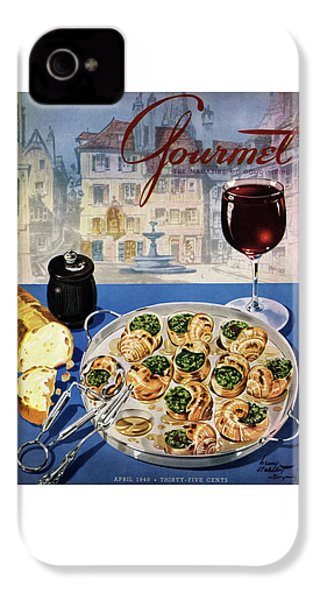 Gourmet Cover Illustration Of A Platter IPhone 4 Case