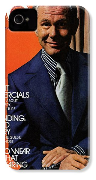 Gq Cover Of Johnny Carson Wearing Suit IPhone 4 Case by Bruce Bacon