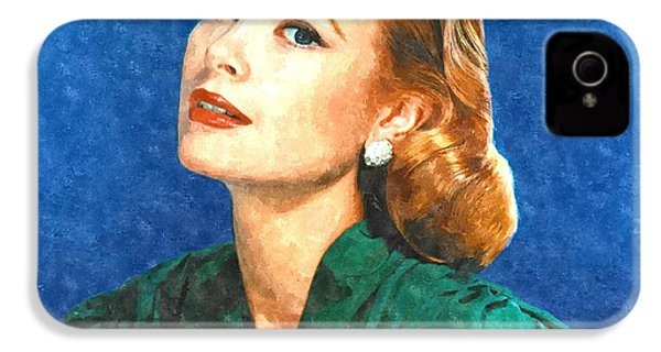 Grace Kelly Painting IPhone 4 Case by Gianfranco Weiss