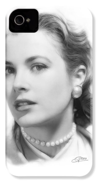 Grace Kelly Pencil IPhone 4 Case by Steve K