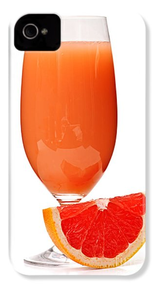 Grapefruit Juice In Glass IPhone 4 / 4s Case by Elena Elisseeva