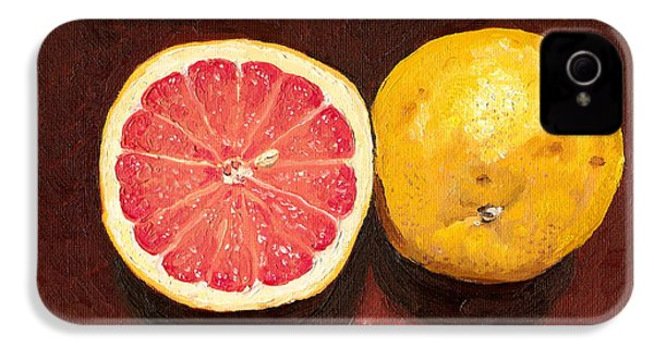 Grapefruits Oil Painting IPhone 4 / 4s Case by