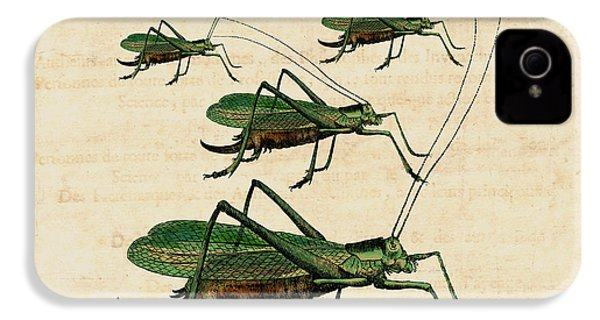 Grasshopper Parade IPhone 4 / 4s Case by Antique Images