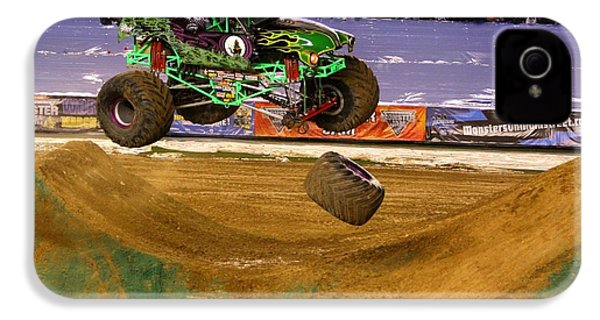 IPhone 4 Case featuring the photograph Grave Digger Loses A Wheel by Nathan Rupert