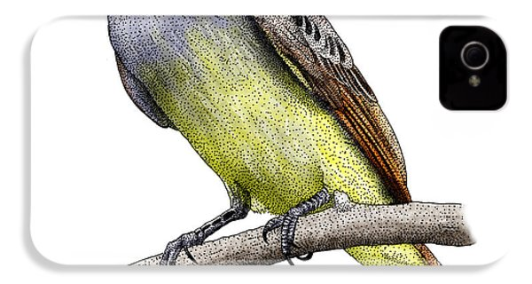 Great Crested Flycatcher IPhone 4 Case by Roger Hall