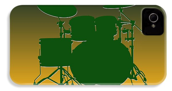 Green Bay Packers Drum Set IPhone 4 Case by Joe Hamilton