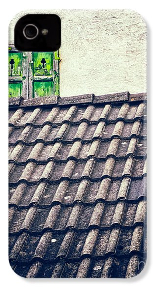 Green Shutters IPhone 4 Case by Silvia Ganora