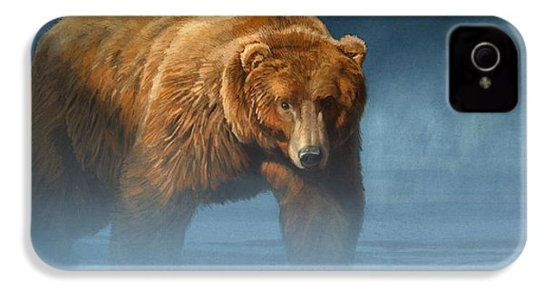 Grizzly Encounter IPhone 4 Case by Aaron Blaise