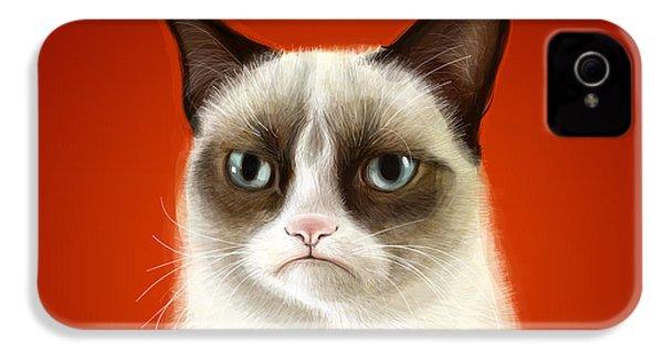 Grumpy Cat IPhone 4 / 4s Case by Olga Shvartsur