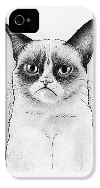 Grumpy Cat Portrait IPhone 4 Case