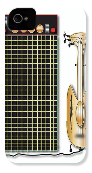 IPhone 4 Case featuring the digital art Guitar And Amp by Marvin Blaine