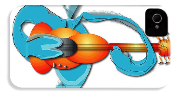 IPhone 4 Case featuring the digital art Guitar Rocker by Marvin Blaine