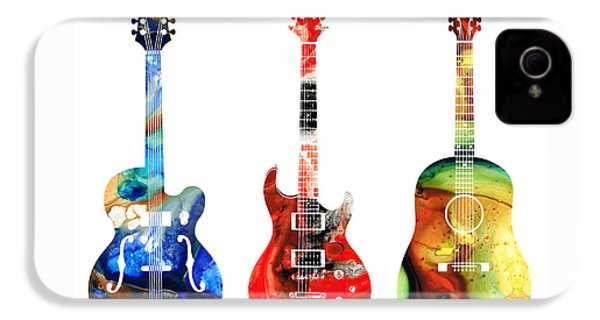 Guitar Threesome - Colorful Guitars By Sharon Cummings IPhone 4 Case