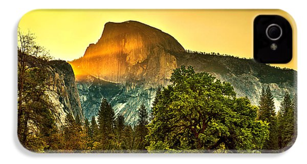 Half Dome Sunrise IPhone 4 Case by Az Jackson