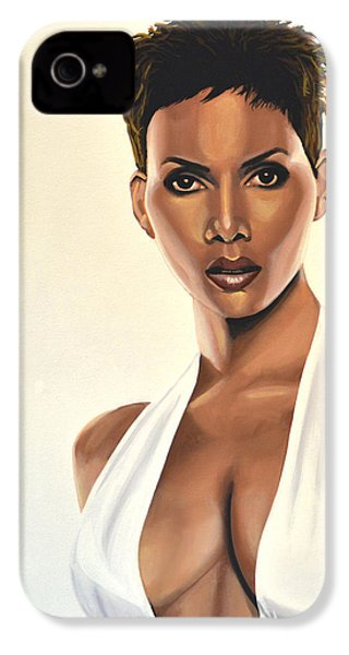 Halle Berry Painting IPhone 4 / 4s Case by Paul Meijering