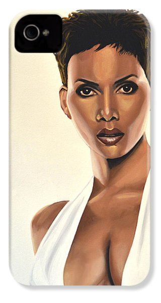 Halle Berry Painting IPhone 4 Case
