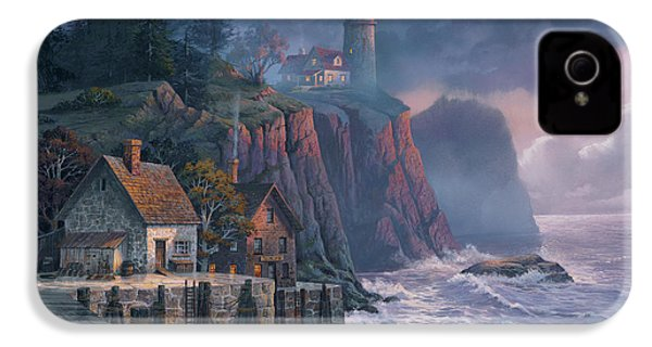 Harbor Light Hideaway IPhone 4 Case by Michael Humphries