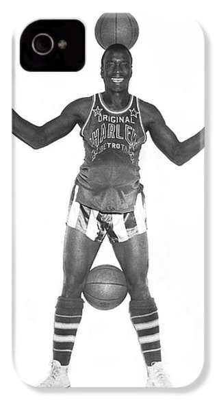 Harlem Globetrotters Player IPhone 4 Case by Underwood Archives