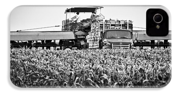 IPhone 4 Case featuring the photograph Harvesting Time by Ricky L Jones