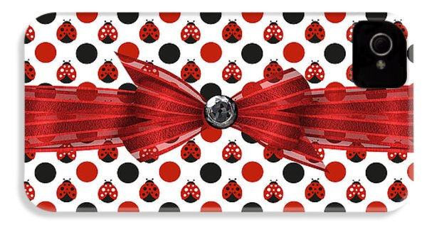 Healing Ladybugs IPhone 4 Case by Debra  Miller