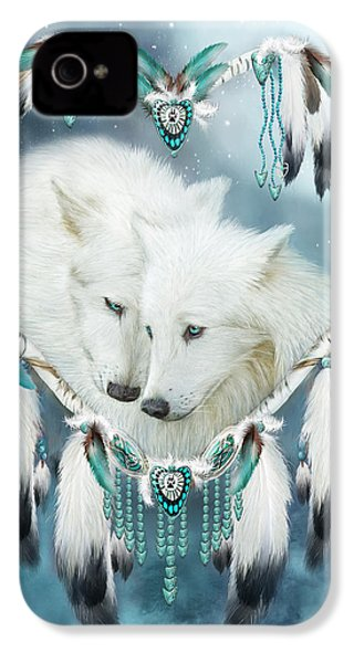 Heart Of A Wolf IPhone 4 Case by Carol Cavalaris