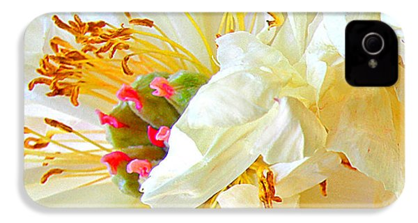 IPhone 4 Case featuring the photograph Heart Of Peony by Nareeta Martin