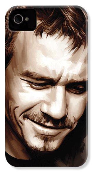 Heath Ledger Artwork IPhone 4 Case by Sheraz A