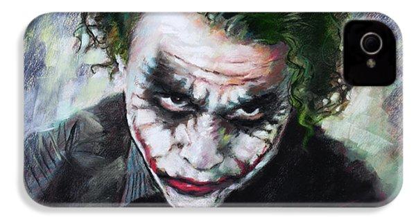 Heath Ledger The Dark Knight IPhone 4 Case by Viola El
