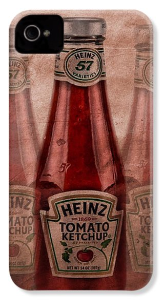 Heinz Tomato Ketchup IPhone 4 Case by Dan Sproul