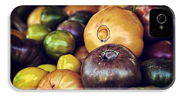 Heirloom Tomatoes At The Farmers Market IPhone 4 Case by Scott Norris
