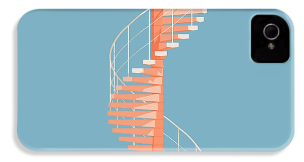 Helical Stairs IPhone 4 Case by Peter Cassidy