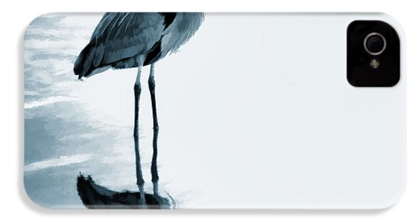 Heron In The Shallows IPhone 4 / 4s Case by Carol Leigh