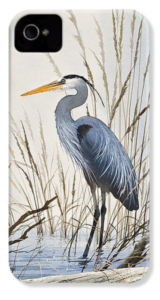 Herons Natural World IPhone 4 Case by James Williamson