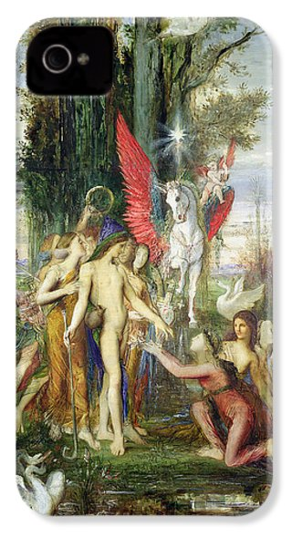 Hesiod And The Muses IPhone 4 / 4s Case by Gustave Moreau
