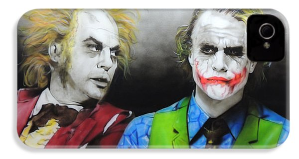 Health Ledger - ' Hey Why So Serious? ' IPhone 4 Case by Christian Chapman Art