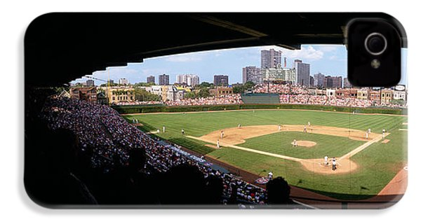High Angle View Of A Baseball Stadium IPhone 4 / 4s Case by Panoramic Images