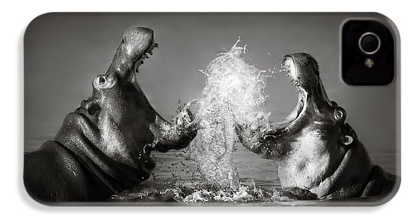 Hippo's Fighting IPhone 4 / 4s Case by Johan Swanepoel