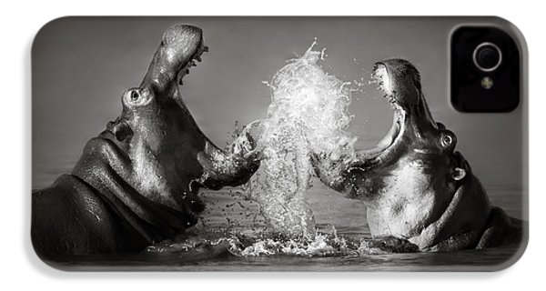 Hippo's Fighting IPhone 4 Case by Johan Swanepoel