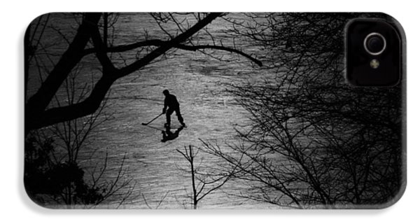 Hockey Silhouette IPhone 4 Case by Andrew Fare