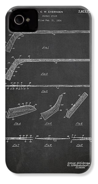 Hockey Stick Patent Drawing From 1934 IPhone 4 Case by Aged Pixel
