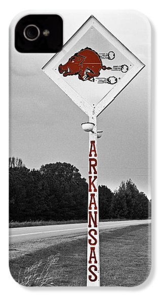 Hog Sign - Selective Color IPhone 4 Case